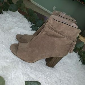 A new approach size 9 M nude tan ankle booties